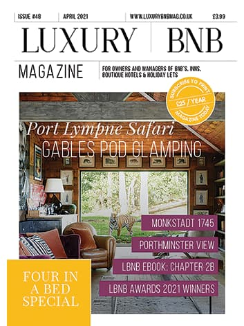 February 2021 Front Cover Luxury BnB Magazine