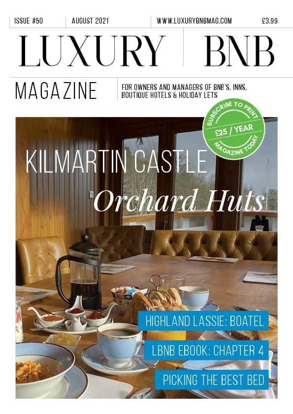 Luxury bnB August magazine